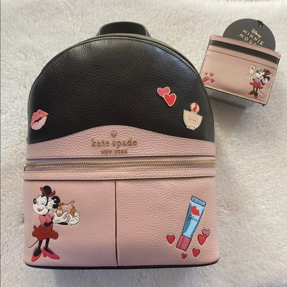 Kate Spade Minnie Mouse backpack & wallet